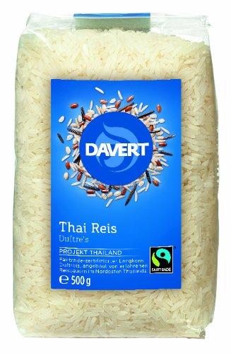Davert Thai Reis weiß, 4er Pack (4x 500 g) - Bio