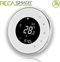 Beca 95 ~ 240VAC dos Pipe WiFi programable redondo pantalla táctil de aire acondicionado termostato (BAC-6000ALW blanco)