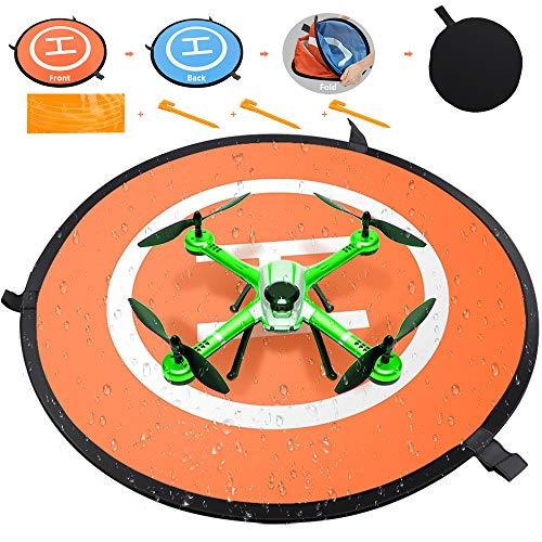 Landing Pad per Drone 75 cm, Landing Pad Universal Waterproof, Portatile Pieghevole Pad di Atterraggio per Drone RC/DJI Mavic Pro/DJI Spark/DJI Phantom 4/4 Pro e altri