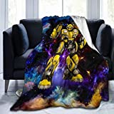 Mars Sight Transformers Bumblebee Blanket Throw Blanket Soft, Warm and Lightweight for Couch Bed Sofa Luxury Fleece Blanket