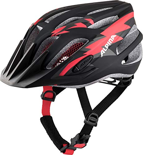 ALPINA FB JR. 2.0 LE Fahrradhelm, Kinder, black-red-white matt, 50-55