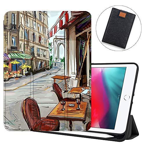 SDH Funda para iPad Mini 7.9 de 5ª generación 2019,funda protectora de TPU suave para la parte trasera de reposo/despertar automático para iPad Mini 5 2019/iPad Mini 4 4th 2015, Painting City 8