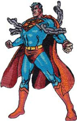 Application Superman Figure Patch