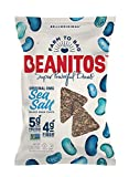 Beanitos Black Bean Chips with Sea Salt Plant Based Protein Good Source Fiber Gluten Free Non-GMO Vegan Corn Free Tortilla Chip Snack, 5 Ounce, Pack of 6