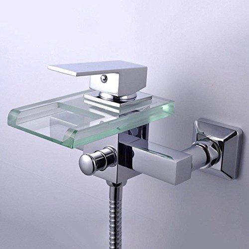 Modern messing wastafel wastafel kraan kraan gootsteen kraan duurzame moersleutel Type muurkraan milieubescherming waterbesparend koper dubbel verbonden multi-functie sanitair hardware mengen kraan
