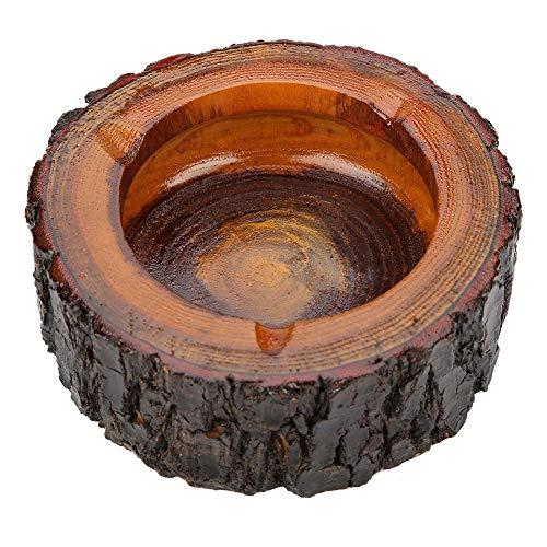 Walfront Holz Aschenbecher, Rund Schöne Holz Draußen Grosser Original Aschenbecher Zigarette Asche Halter für Home Office, Rauchen Aschenbecher(11-12cm)