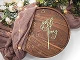 LS Designs Gender Reveal Girl or Boy Baby Shower Cake Topper Gold...