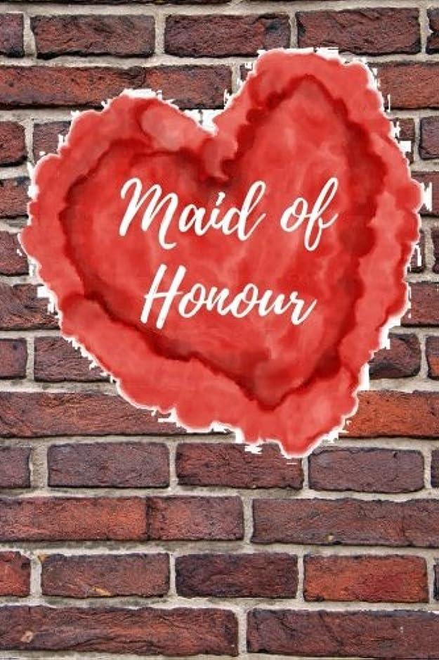 稼ぐ先祖排出Maid of Honour: Blank Lined Journal
