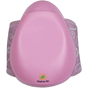 Prana Air PM2.5 Pollution Mask With 5 Layers HEPA Filter, 3 Fan Speeds & N95 (Pink)