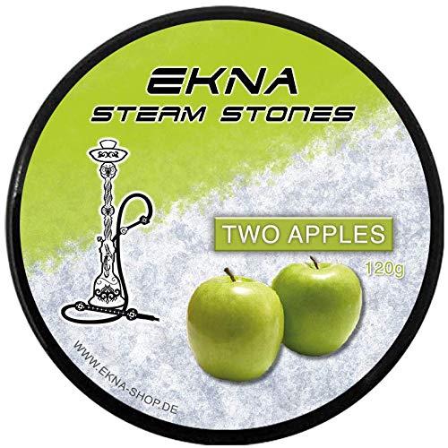 EKNA® SteamStones Doppel-Apfel 120g - Hookah Steine - Stein Granulat Shisha - Tabakalternative - Steam Stones