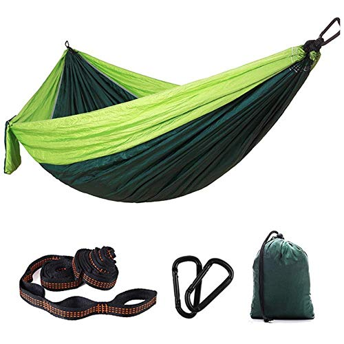 KAIGE Hamacs Camping en Plein air, Hamac Balançoire extérieur Double Ultraléger Parachute Tissu intérieur for Voyage Randonnée Camping 300x200cm WKY