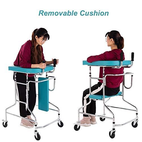 ZAQI Rollator Gehhilfen Rolling Walker für Erwachsene ältere Menschen mit Behinderung, höhenverstellbare Hochleistungs-Medical Walker-Gleiter (Size : Without Drip Stand)