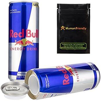 Stash Safe Red Bull Diversion Safe Secret Stash Can 8oz w HumanFriendly Smell Proof Bag