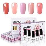 Elite99 Esmaltes Semipermanentes de Uñas en Gel UV LED, 5 Colores de San Valentín en Caja de Regalo 10ML 001