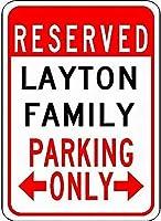 金属サインレイトン家族駐車場ノベルティスズストリートサイン
