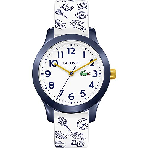 Lacoste Unisex Analog Uhr Kids mit Kunststoff Armband