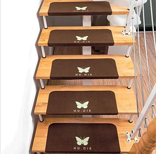 JKlazy Treppenmatte Einfacher Schmetterling Selbstklebende Matte Waschbar Pflegeleicht Ergonomic Technology Stufenmatten Set für Treppenstufen - 15 Stück