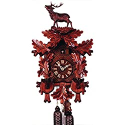 German Cuckoo Clock 8-day-movement Carved-Style 21.70 inch - Authentic black forest cuckoo clock by Rombach & Haas