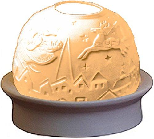 'LED Luce del vento di porcellana della libertà 'Slitta di renne in porcellana, 10cm di altezza, 12cm di diametro, decorazione per Natale