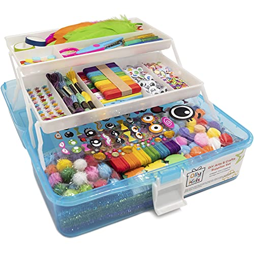 Olly Kids Craft Kits Library in a Plastic Craft Box Organizer- Craft and Art...