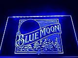 Blue Moon bière Panneau Signe Publicité Neon LED Vert