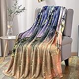Mizzeo Flannel Fleece Blanket 50'x60', Super Soft Blanket, All Season Lightweight Warm Plush Cozy Blanket for Couch, Sofa - Sereen Dream Pattern