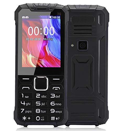 BTER Teléfono móvil Desbloqueado para Personas Mayores y niños, teléfono móvil portátil con Doble SIM y Pantalla de 2,8'con botón Grande fácil de Usar Teléfono móvil básico Recto de 64 MB + 32 MB(EU)