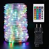 20M Guirlande Lumineuse Exterieur - Améliorez les lumières de corde d'extérieur, IP68 Étanche 200 Leds Guirlande avec télécommande et minuterie, 16 couleurs et 4 modes pour bar, fête