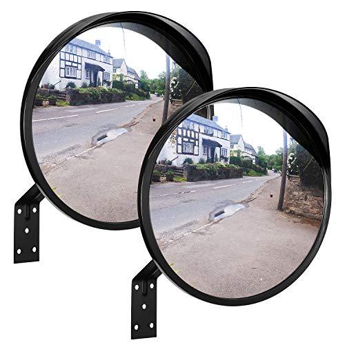 ONVAYA® Verkehrsspiegel 30 cm | Konvexspiegel zur Einsicht von toten Winkeln | Sicherheitsspiegel | Überwachungsspiegel | Panoramaspiegel (2 Stück)