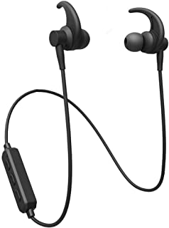 Wireless Bluetooth Headphones, RAVEtone Bluetooth Earphones with Enhanced Bass, Bluetooth 5.0, IPX4 Sweat-Resistant, 5-Hour Battery Life, Built-in Mic, Secure Fit Sports Earphones for Gym, Running