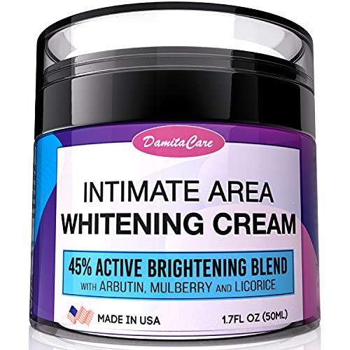 Intimate Whitening Cream - Skin Lightening Gel for Body, Face, Bikini and Sensitive Areas - Underarm Bleaching Cream