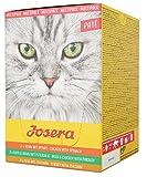 JOSERA Multipack Paté (6 x 85 g) | getreidefreies Katzenfutter | Huhn mit Spinat, Ente & Huhn mit Petersilie sowie Pute mit Zucchini | Super Premium Nassfutter für ausgewachsene Katzen | 6er Pack