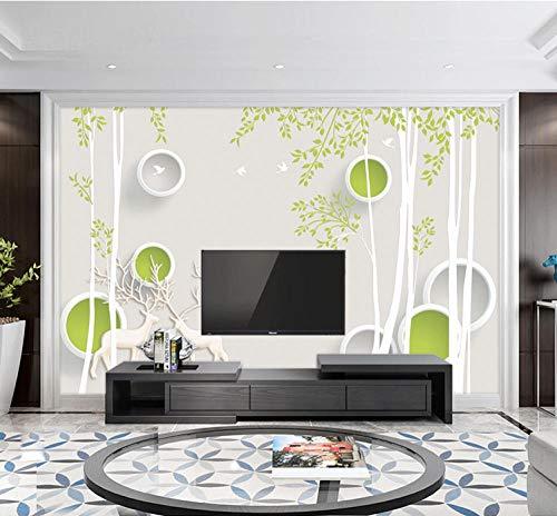 TV-Hintergrundwand Wohnzimmer TV-Hintergrundtapete Simple Modern 5D Concave Atmosphere 8DTapete 3d wandbild tapeten vintage Moderne Papier-250cm×170cm
