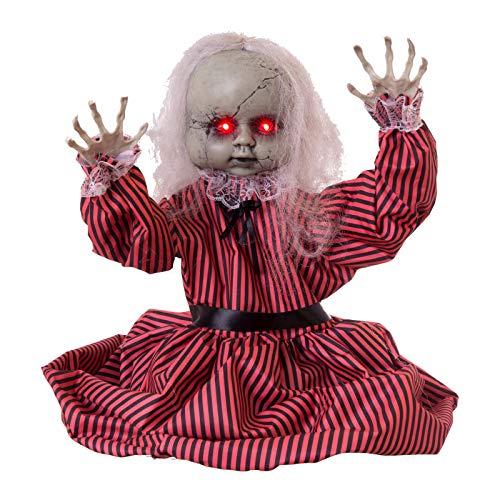 Muñeco Zombi con luz, Sonido y Movimiento para Halloween de Tela de 80x23x83 cm - LOLAhome