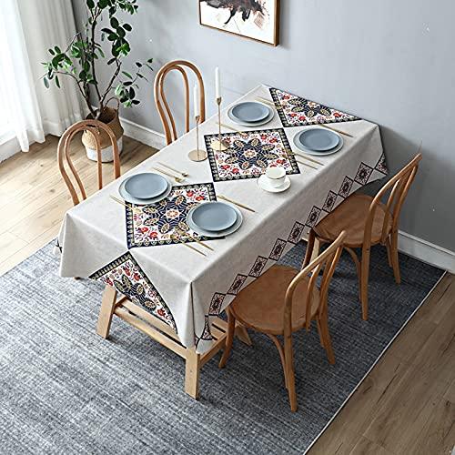 Mantel de PVC, impermeable, a prueba de aceite, mantel libre de lavado, utilizado para cocina, comedor, estera de picnic, uso en interiores y exteriores, decoración de escritorio,Style2,80x120cm