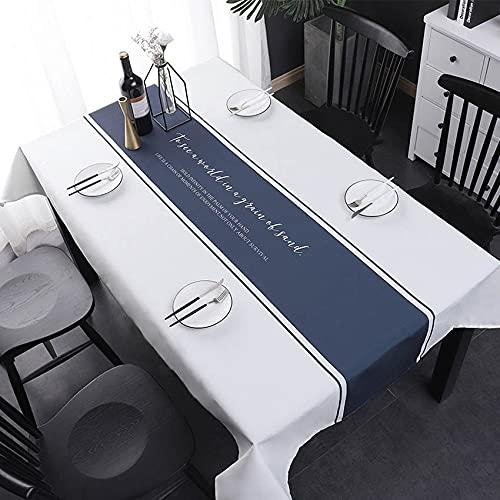 XXDD Mantel de Simplicidad nórdica, Mantel para Mesa, decoración de Boda, decoración de Fiesta, Mantel Rectangular, Mantel Moet Chandon A4 150x210cm