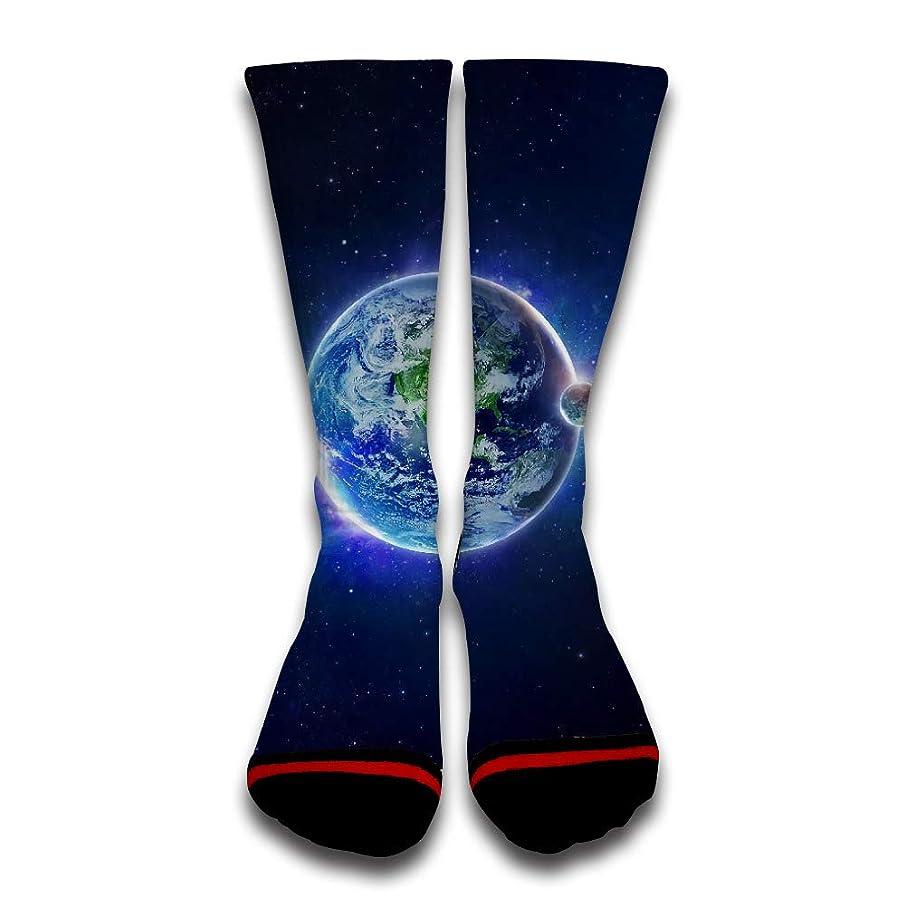 NOOU Custom Printed Personalized Unisex Socks- Starry Sky Earth