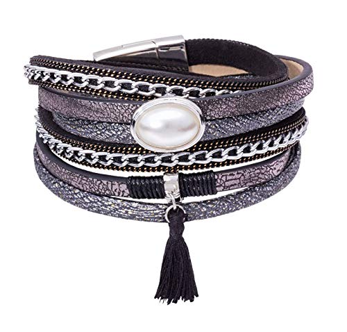 Tamaris Accessoires Phoeby Armband Größe 0 black/black metallic