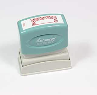 Xstamper Eco-green RECEIVED Pre-Inked Stamp (1203) – Red Ink