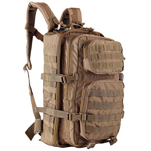 OLEADER Rucksack 40L Military Tactical Backpack Waterproof Large Assault pack Molle Backpacks for Outdoor Hinking,Trekking,Camping (Khaki)