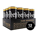 Peet's Iced Espresso Caramel Macchiato 8oz, Single Origin Colombian Espresso + Milk and Cane Sugar, 110 calories, 12 pack