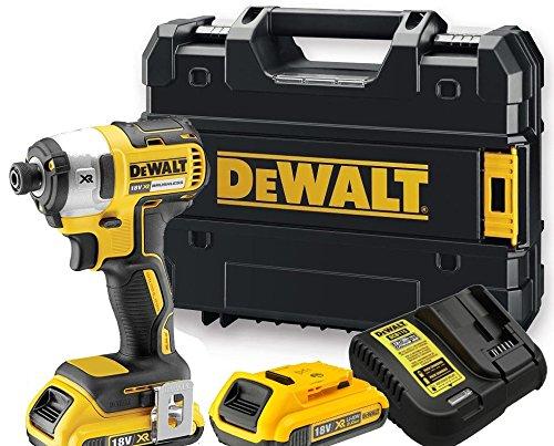 Dewalt DCF886D2 XR Brushless Impact Driver with 2 x 2.0Ah Lithium-Ion Batteries, 18V, 14cm x 7.5cm x 22.8cm