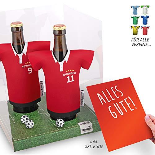 Der Trikotkühler | Das Männergeschenk für NÜRNBERG-Fans | Langlebige Geschenkidee Ehe-Mann Freund Vater Geburtstag | Bier-Flaschenkühler by Ligakakao