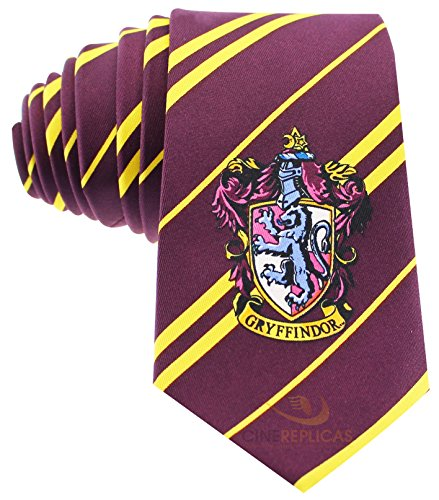 Cinereplicas - Harry Potter - Cravatta Unisex – Replica Esatta - Licenza Ufficiale - Casa Grifondoro - Taglia Unica – 100 % Microfibra – Rosso e Giallo