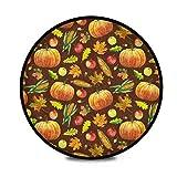 FULUHUAPIN Alfombras circulares suaves de otoño y otoño para niñas de 91,9 cm de diámetro para dormitorio de niños, habitación de bebé, sala de juegos, alfombras de tipee y guardería 2032734