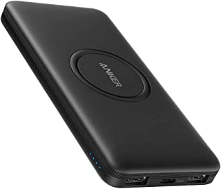 Anker Wireless Power Bank, PowerCore 10,000mAh Portable Charger with USB-C (Input Only), External Battery Pack Compatible ...
