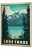 JTY store Vintage Wandkunst Dekor Zeichen Globetrotter Lake