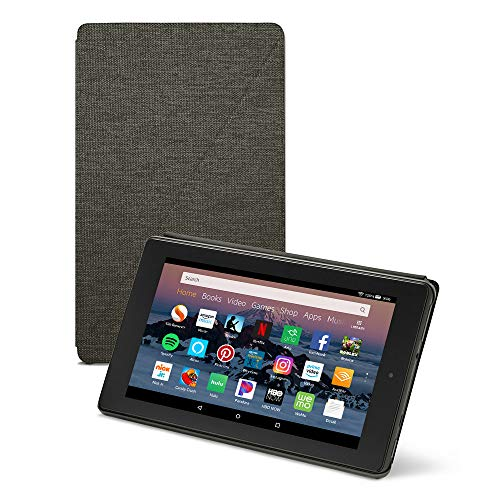 Amazon Fire HD 8 Tablet Case (Compatible with 7th and 8th Generation Tablets, 2017 and 2018 Releases), Charcoal Black