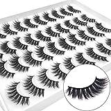 LAMHOCHY 20 Pairs Natural False Eyelashes Fake Lashes Long Makeup 3D Eyelashes For Beauty Eyelash Extension