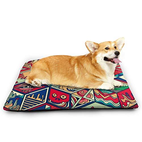 Niet van toepassing Kleurrijke Abstract Zeshoek Tegel Huisdier Kat En Hond Pad Waterdichte Huisdier Mattrice Absorberende Handdoek Tapijt, 23